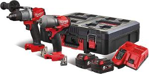 Milwaukee M18FPP2E2-502P Combi-Set 4933 4711 47