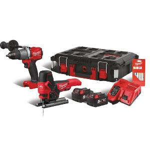 Milwaukee M18FPP2F2-502P Combi-Set 4933 4711 46
